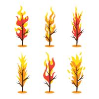 Burning Bush Free Vector Art.