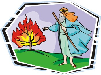 Moses and the burning bush clipart 2 » Clipart Portal.