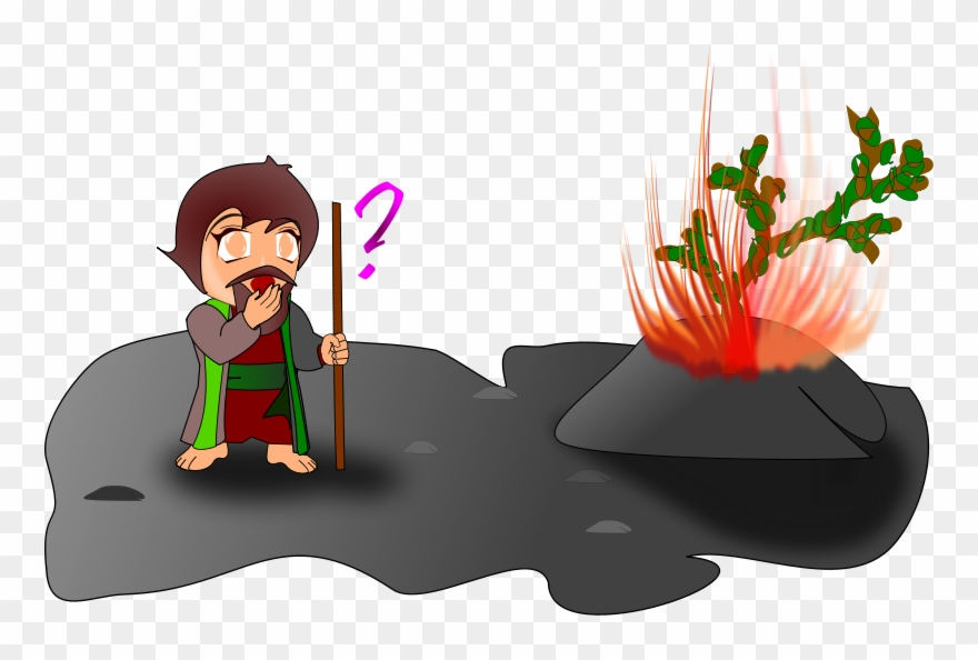 Moses And The Burning Bush Clipart.