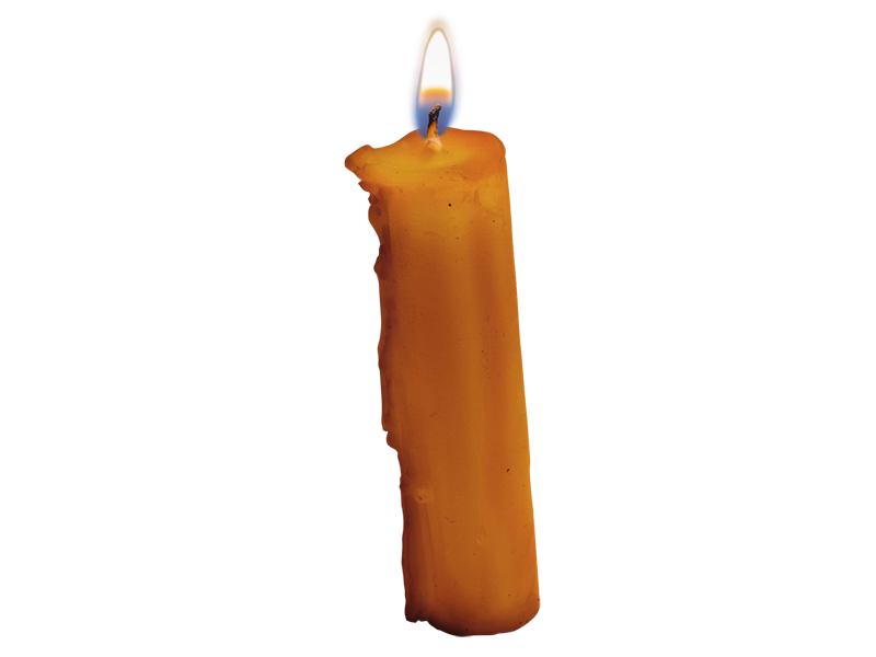 Burning Candle PNG (Isolated.