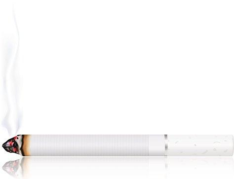 Burning cigarette Clipart Image.