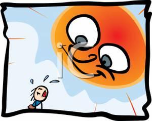 Hot Sun Burning Down on a Hot Man.