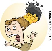 EPS Vectors of cartoon man with hair on fire csp15571598.