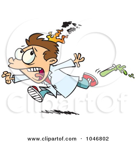 Clipart person on fire.