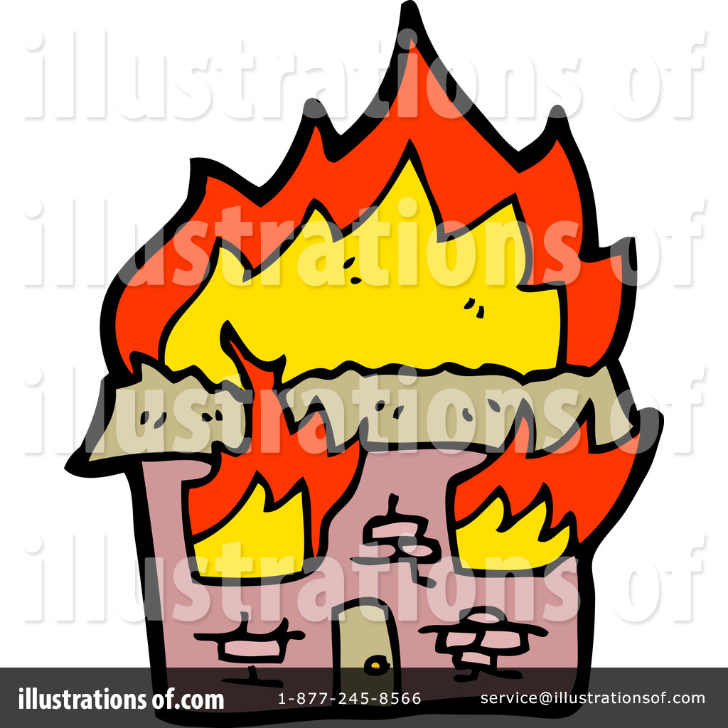 Burning House Clipart #1197637.