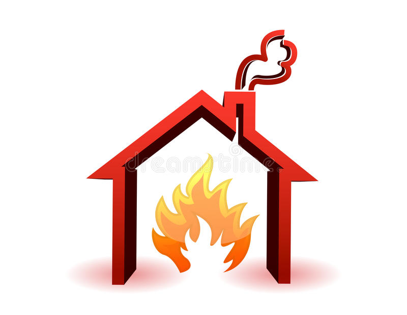 Burning House Stock Illustrations.