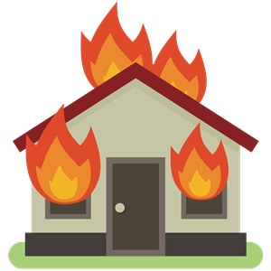 Burning House clipart, cliparts of Burning House free download (wmf.
