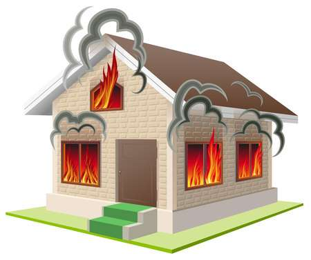 2,253 Burning House Stock Vector Illustration And Royalty Free.