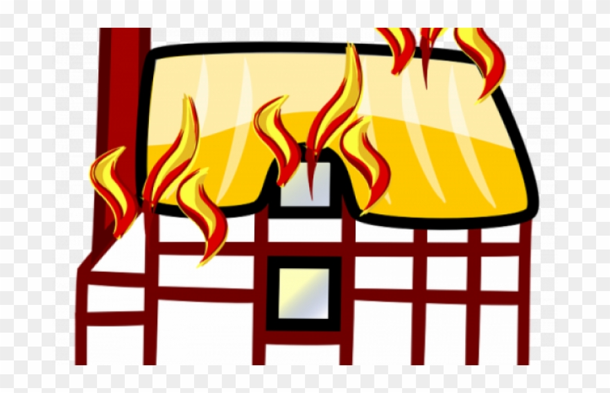 Burning House Cartoon Clipart Cartoon Building Clip.