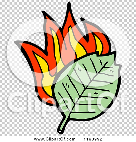 Cartoon of a Burning Leaf.