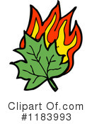 Clipart of Burning Leaves #1.