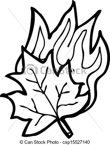 EPS Vector of cartoon burning leaf csp15527140.