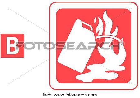 Stock Illustrations of Class B Fire.