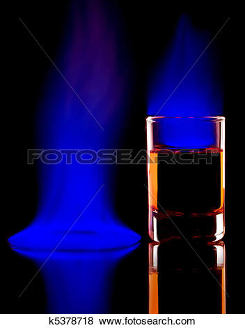 Pictures of Burning alcohol k5378718.