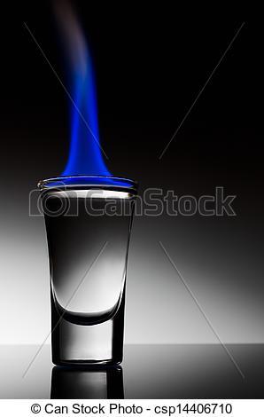 Stock Photography of Burning alcohol.