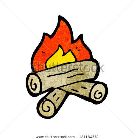 Cartoon Log Fire Stock Photos, Royalty.