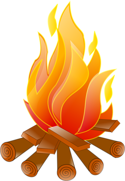 Free vector graphic: Campfire, Fire, Logs, Burning, Wood.