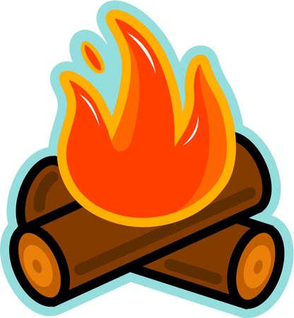 Burning log clipart.