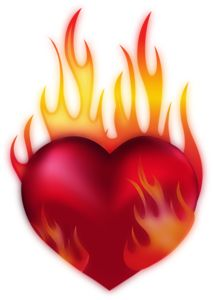 Burning love clipart.