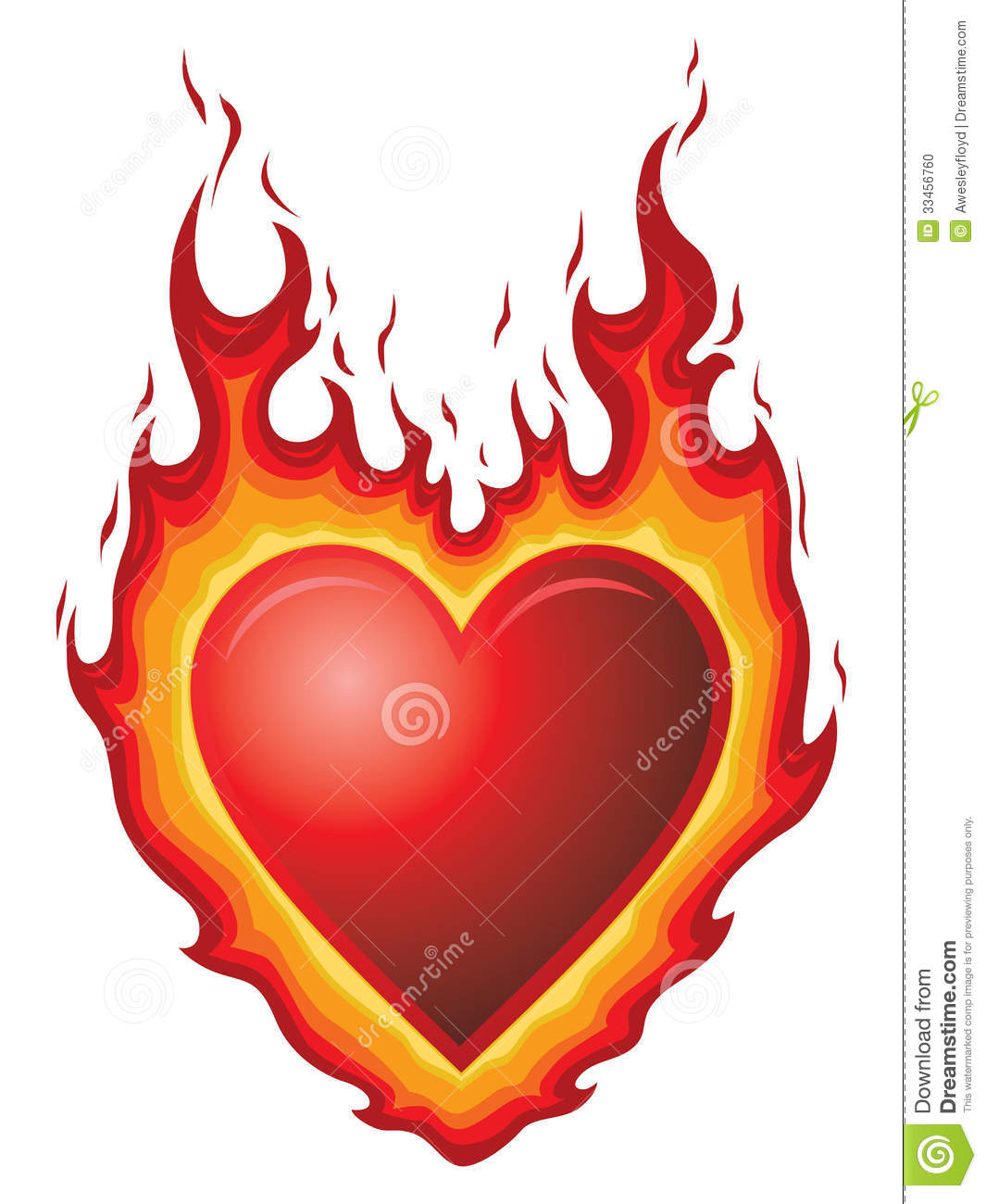 Heart Burn Stock Photo.