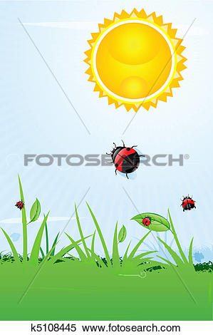 Clipart of burning sun k5108445.