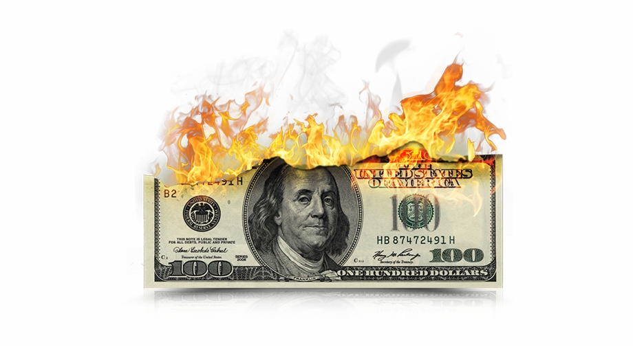 Burning Money Png.