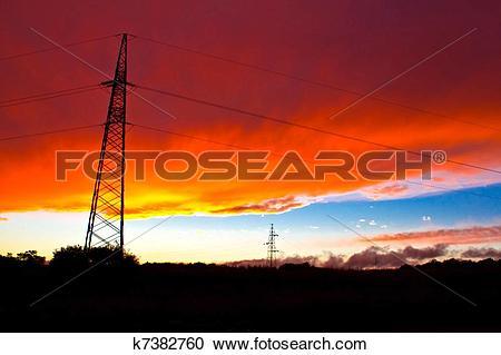 Stock Photography of Armageddon sunset.