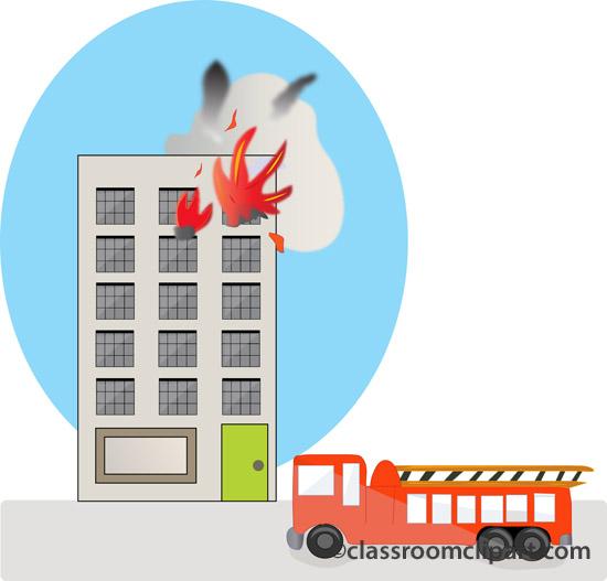 Burning Building Clipart.