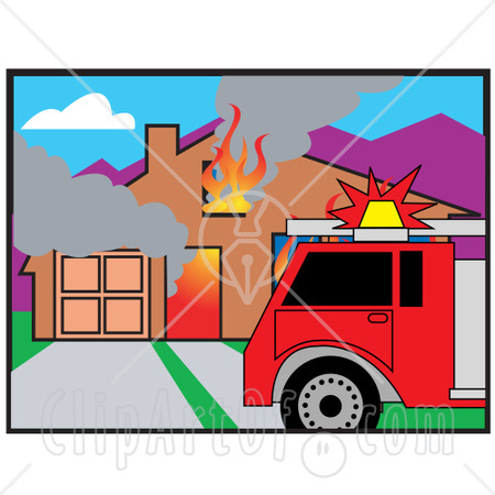 Burning House Clipart.