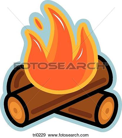 Log fire clip art.