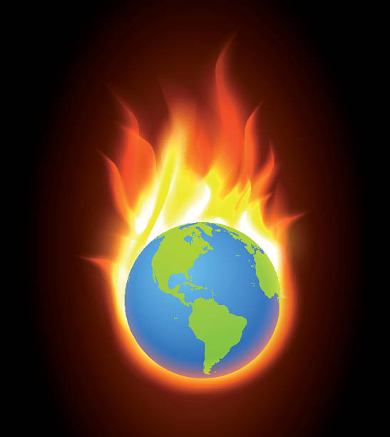 Burning World Clip Art, Vector Images & Illustrations.