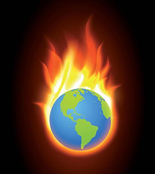 Burning World Clip Art, Vector Images & Illustrations.