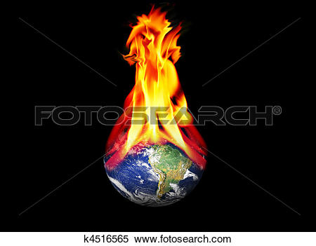 Stock Illustration of Burning World k4516565.