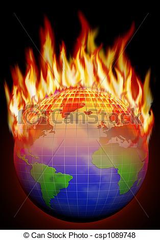 Stock Illustration of Global warming.