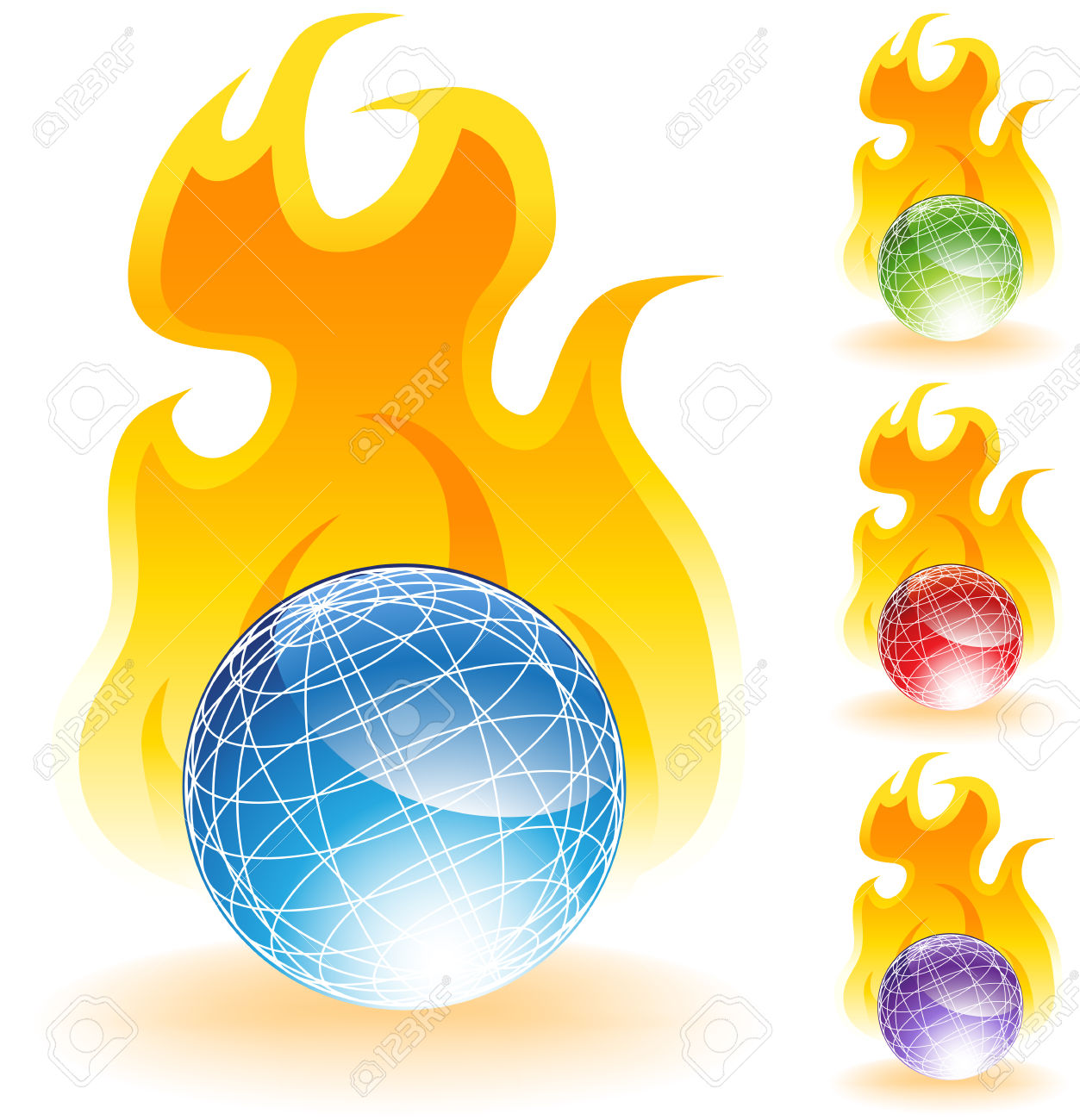 Burning World Royalty Free Cliparts, Vectors, And Stock.