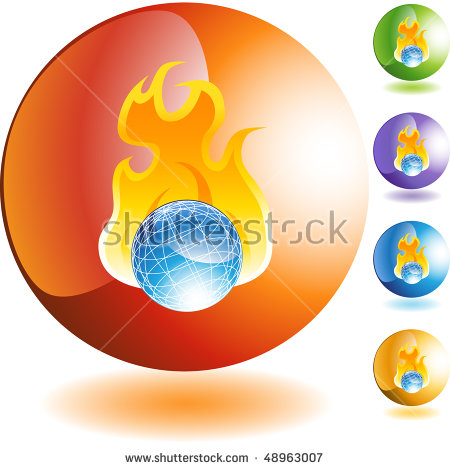Burning World Stock Vector 32378839.