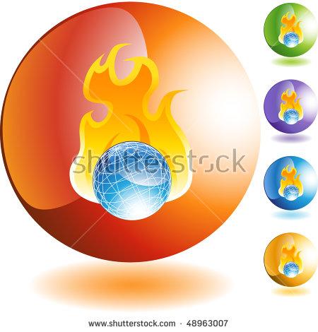Burning World Stock Vector 32378839.