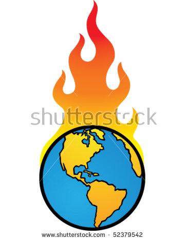 Burning Earth America Stock Vector 52379542.