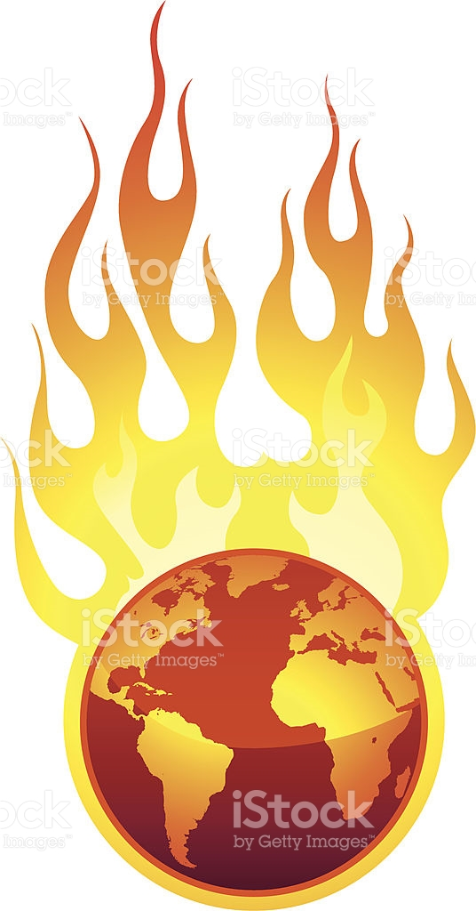 Burning World stock vector art 165802667.