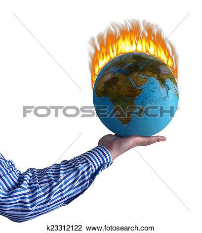 Clip Art of Burning world k23312122.