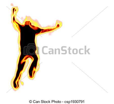 Burning man clipart.