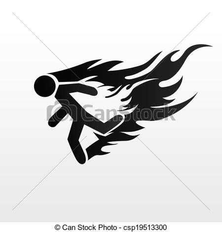 Burning man clipart.