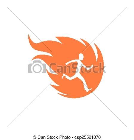 Vectors Illustration of burning man.