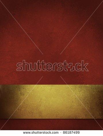 Elegant Gold Background With Elegant Large Burnished Gold Ribbon.