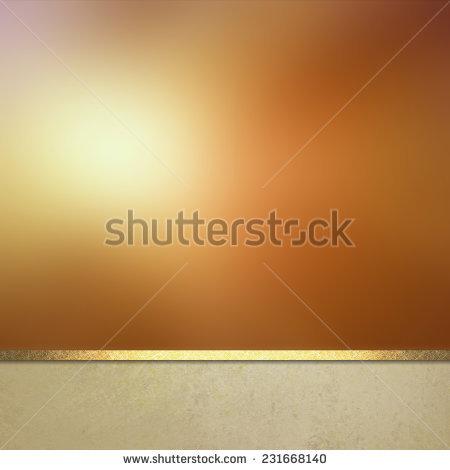 Gold Background Website Or Poster Layout, Fancy Elegant Blurred.