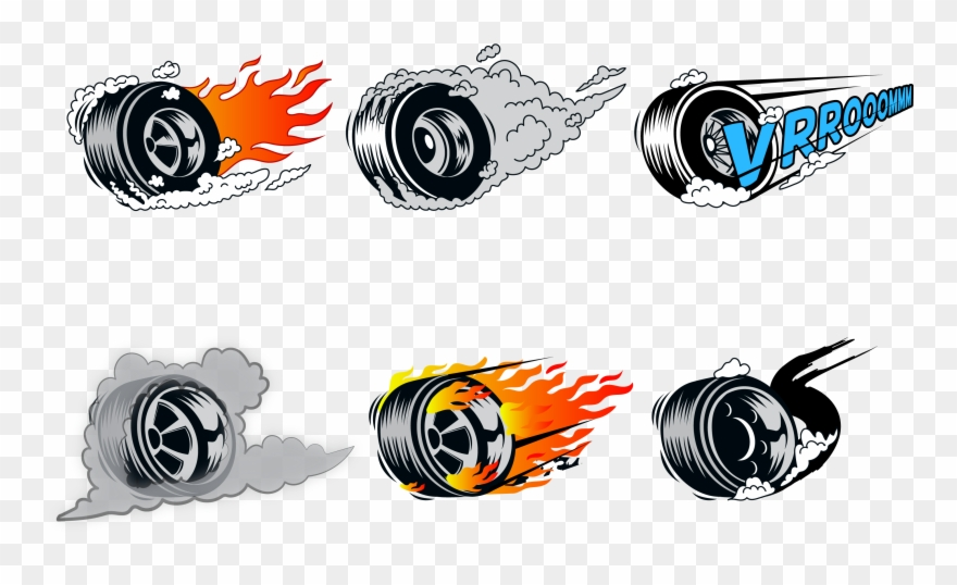 Hot Wheels Clipart Car Burnout.