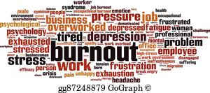 Job Burnout Clip Art.