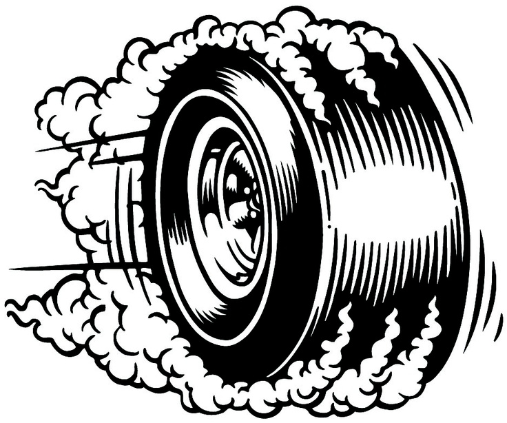 Tire burnout clipart.