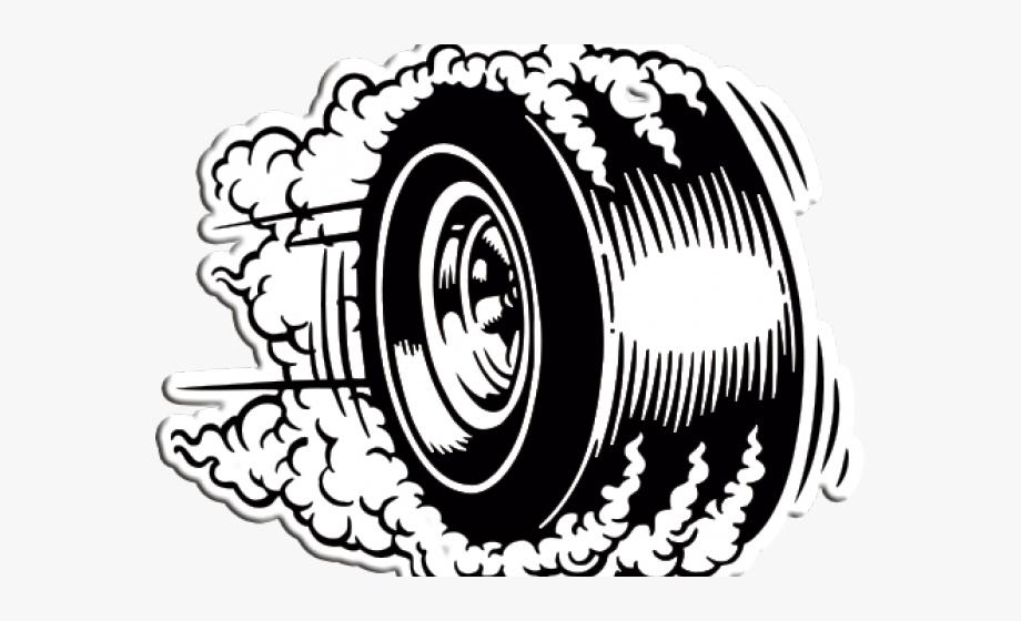 Drawn Smoke Tire Smoke.