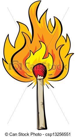 Stock Illustrations of Burning Match.